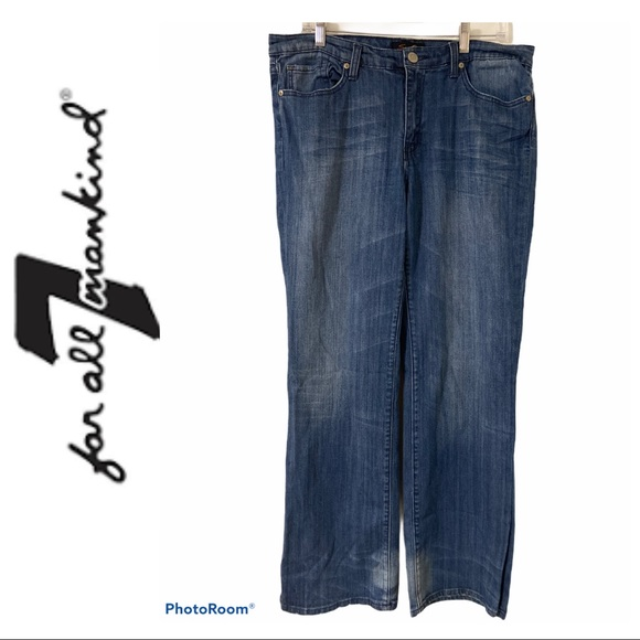 7 for All Mankind Wide Leg Jeans